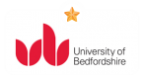 University of Bedfordshine