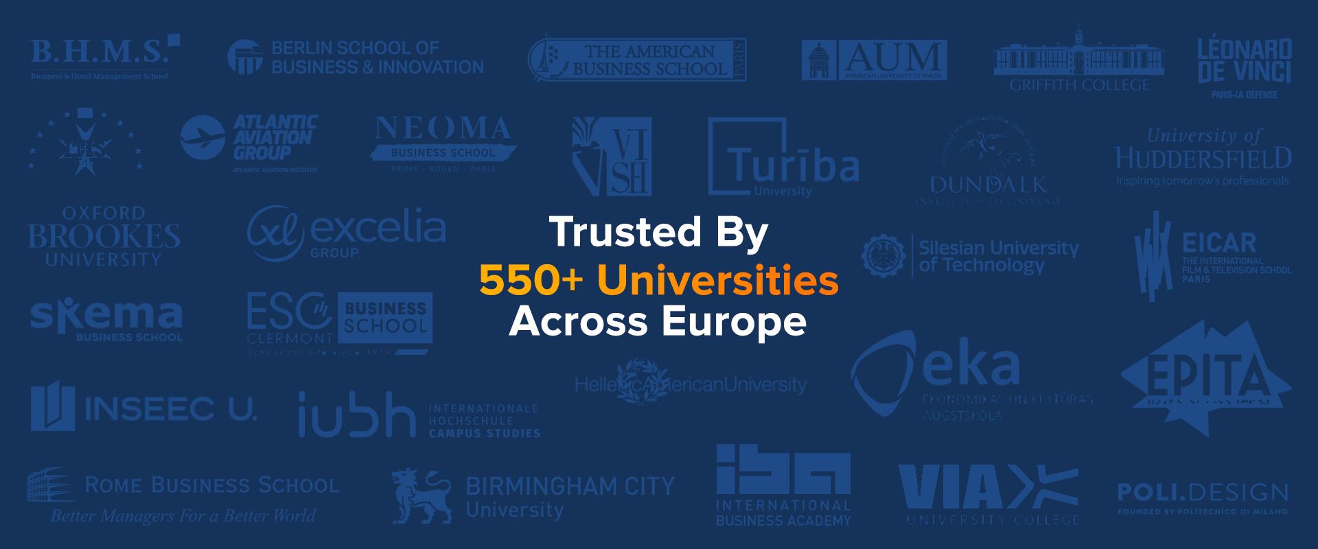 Europr 550 Universities