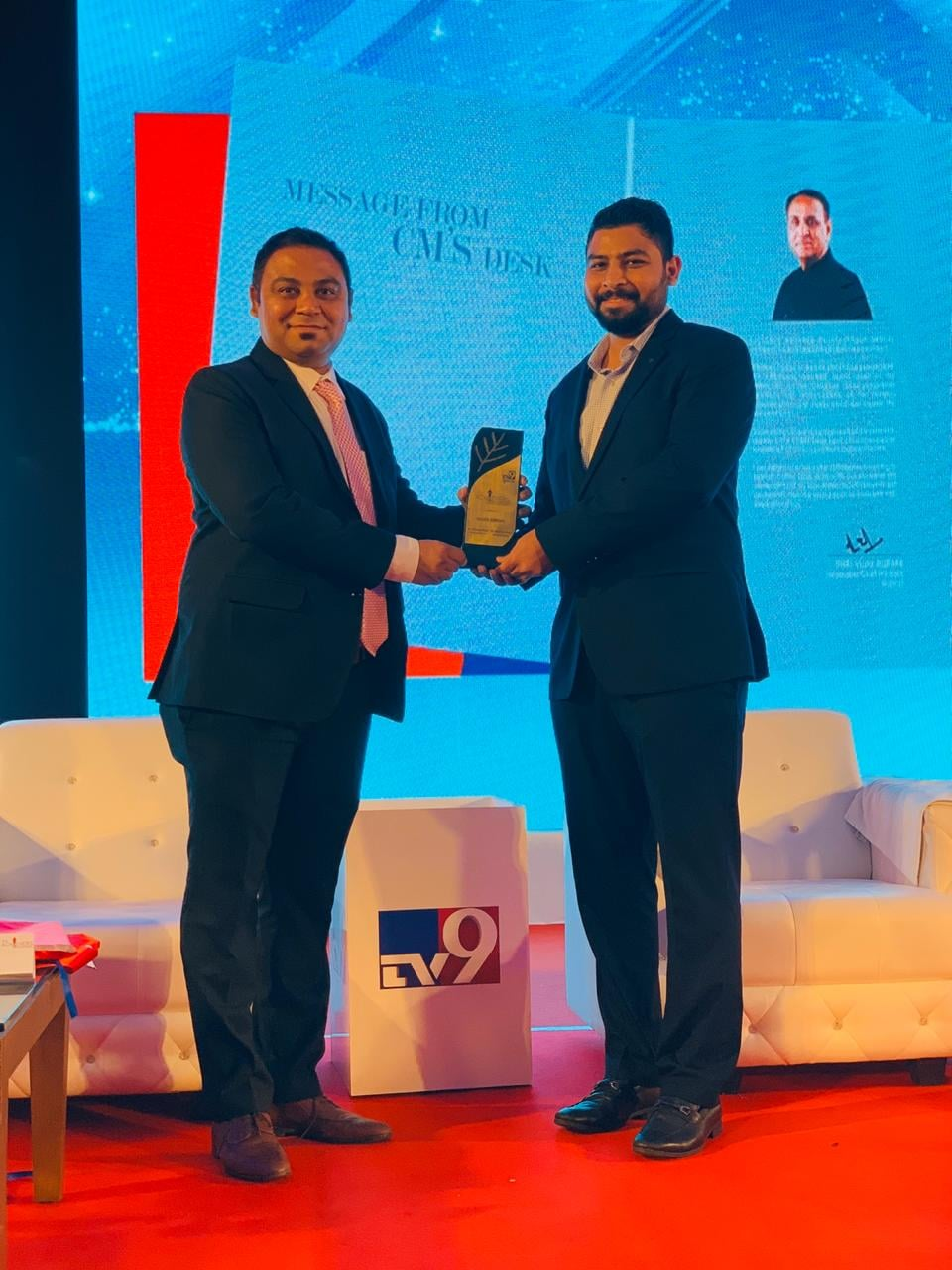TV9 Ace Achievers Award Received By Bhargav Modi & Chintan Modi