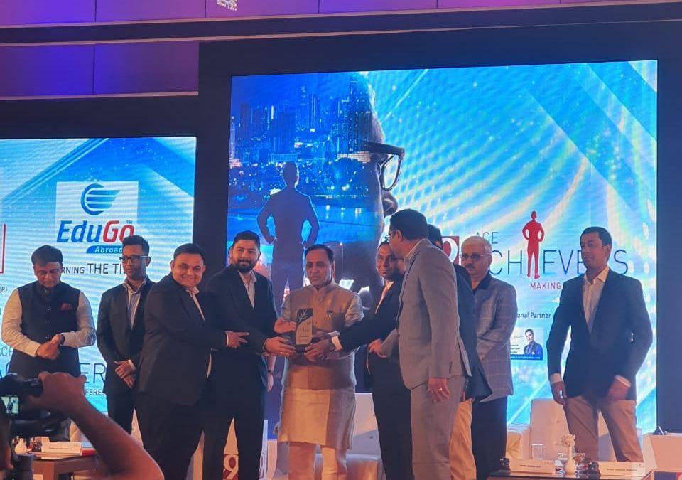 Edugo Abroad Receives TV9 Ace Achievers Award From Honorable CM Vijay Rupani