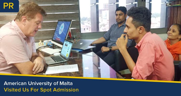 American University of malta spot admissiona at edugo abroad ahmedabad Head Office