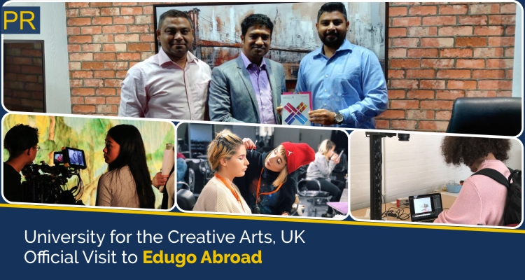 University for the Creative Arts UK Offical Visit To Edugo Abroad