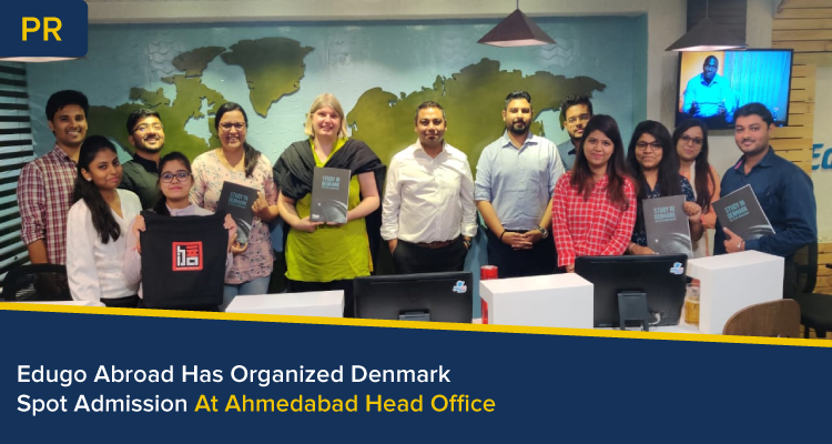 peoples at denmark spot admission at Edugo Abroad Ahmedabad Branch