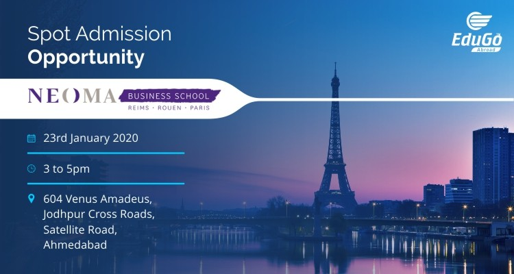 Spot Admission Opportunity - NEOMA Business School