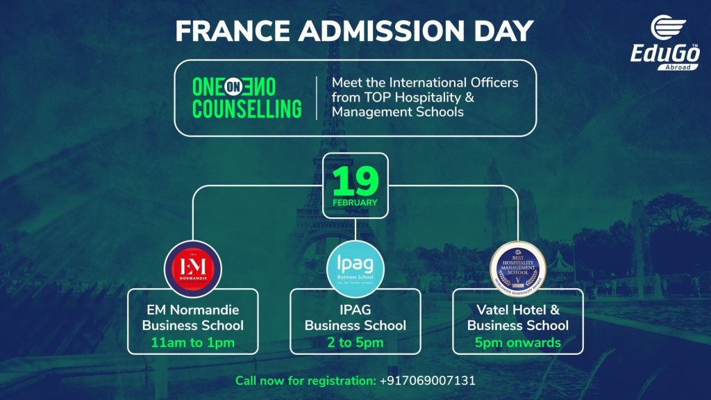 France Admission Day One On One Counselling
