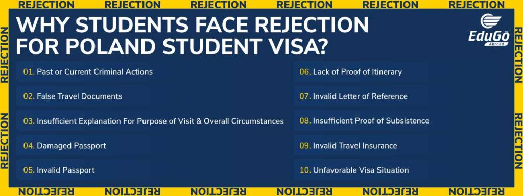 Poland Student Visa Rejection Top Reasons And How To Avoid It Best Poland Visa Guide