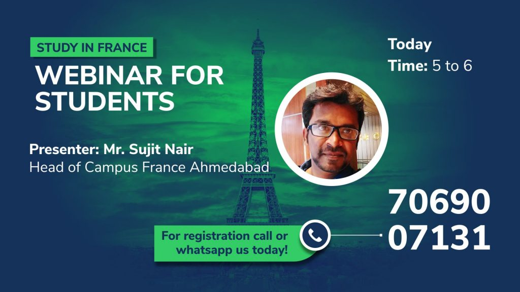 Study In France Webinar For Students