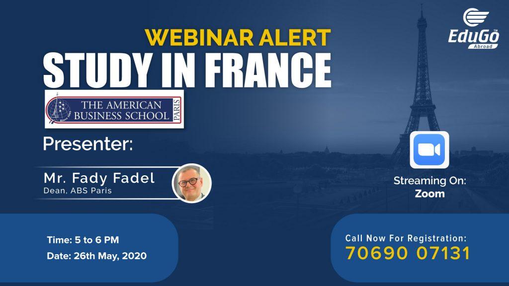 Study In France ABS Paris Webinar
