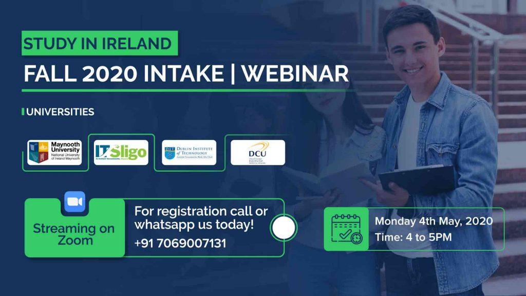 Study In Ireland Fall 2020 Intake Webinar