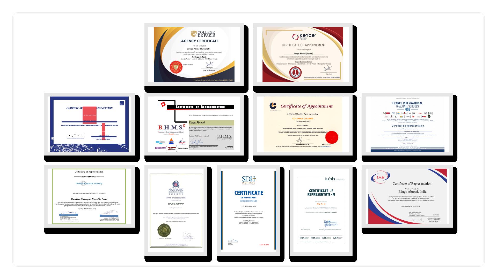 Edugpo abroad agent certificates