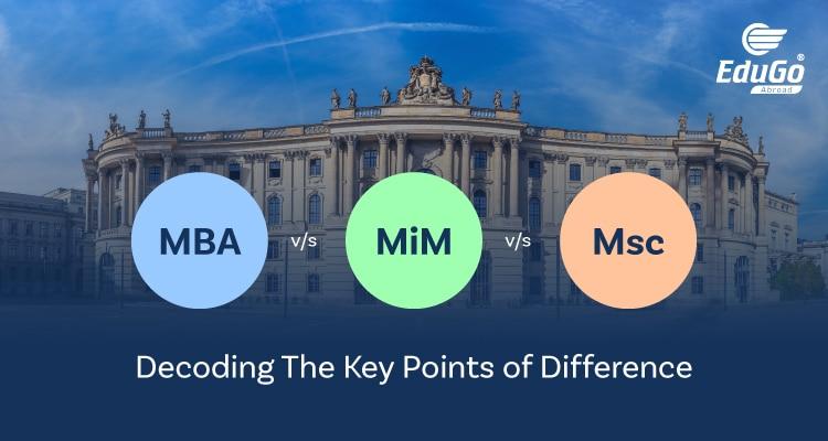 MBA vs MiM vs MSc