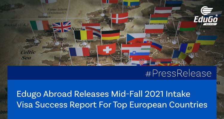 Edugo Abroad Releases Mid Fall 2021 Intake Visa Success Report For Top European Countries